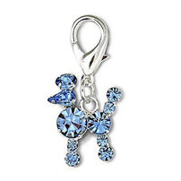 Blue poodle clip