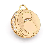 moon cat gold tag