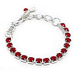RED CRYSTAL SINGLE ROW NECKLACE