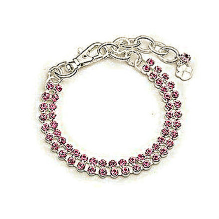 PINK CRYSTAL TWO ROW NECKLACE