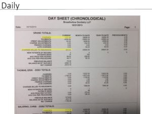 day sheet