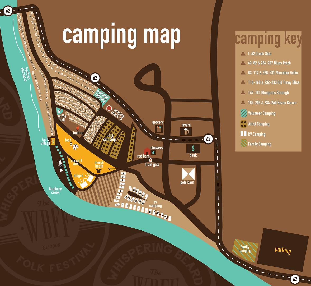Whisperig Beard Camping Map