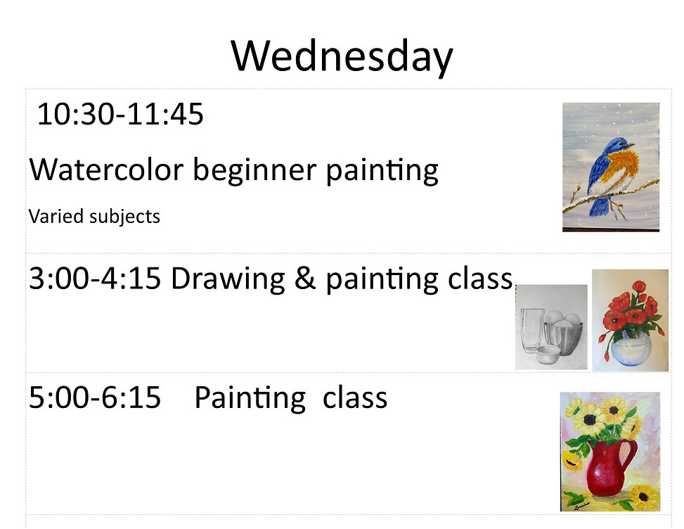 June Wednesday classes with pictures jpg