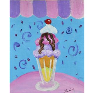 Laraines Ice cream sundae at artspace4fu