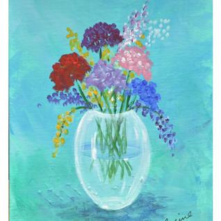 Laraines vase with flowers 1 at artspace