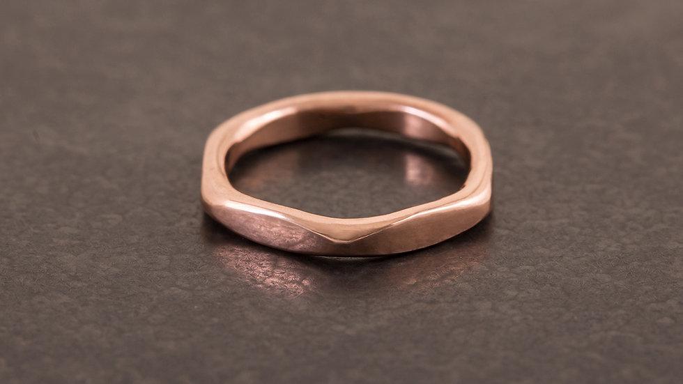六角螺母 紅銅戒指 Hexagon Ring