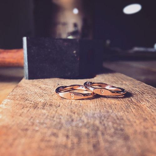 雙面扭轉戒指  DoubleSided Ring
