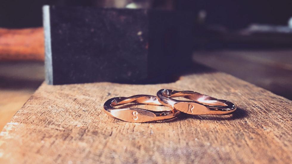 目眼扭轉 雙面 純銀戒指  DoubleSided Ring
