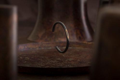 Reverse 逆物論月型手環(寬版) Mokume-gane Bangle
