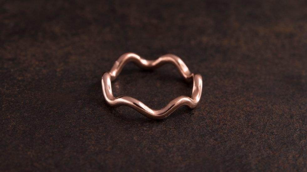 波浪 紅銅戒指 Wave Ring