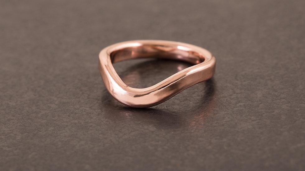 微風 紅銅戒指  Breeze Ring