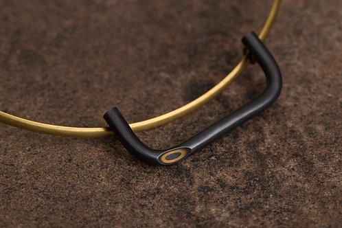 Reverse 逆物論環形項鍊 Mokume-gane Necklace