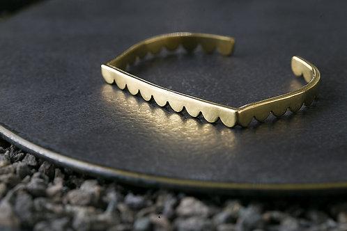 Misstache 鬍子小姐 手工黃銅手環 Brass Bangle Adjustable