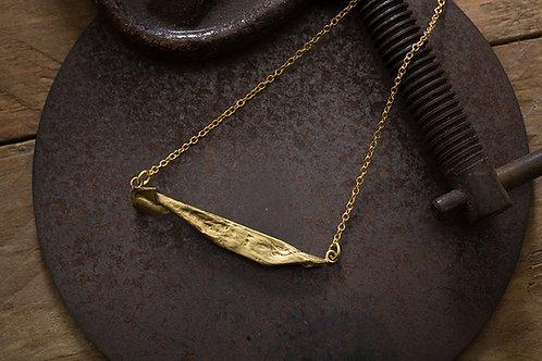 Origamini 小摺學 黃銅魚項鍊 Fish Brass Necklace