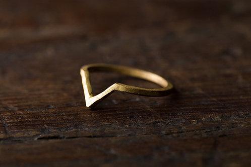 Beats 悸 黃銅戒指 Brass Ring Vshape
