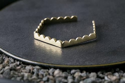 Misstache 鬍子小姐 轉折六角手環 Brass Hexagon Bangle