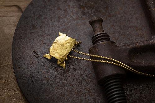 Origamini 小摺學 黃銅 蟹 項鍊 Crab Brass Necklace