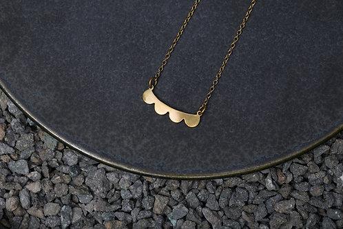 Misstache N.4 鬍子小姐 4 號 黃銅項鍊 Brass Necklace