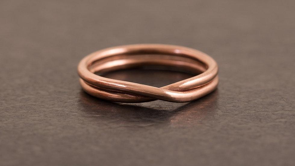 無限循環 紅銅戒指 Infinite Ring