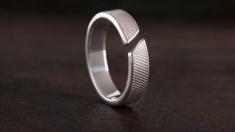 革紋 純銀戒指 Emboss Texture Ring