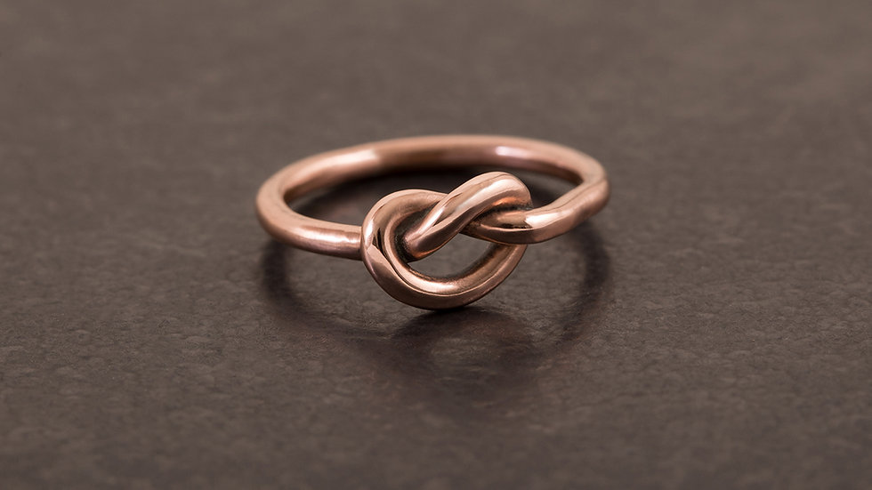 單結紅銅 戒指1號 Knot Tying Ring