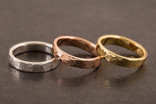 經典錘目海紋 戒指 HammeredHead Ring Copper