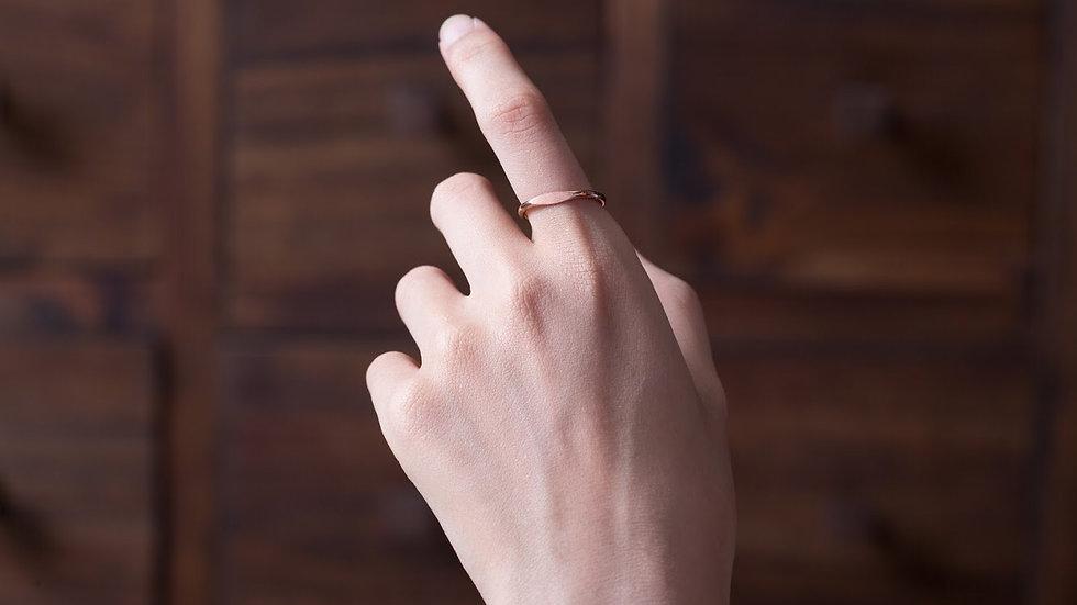 單目眼 黃銅戒指  Eye Ring
