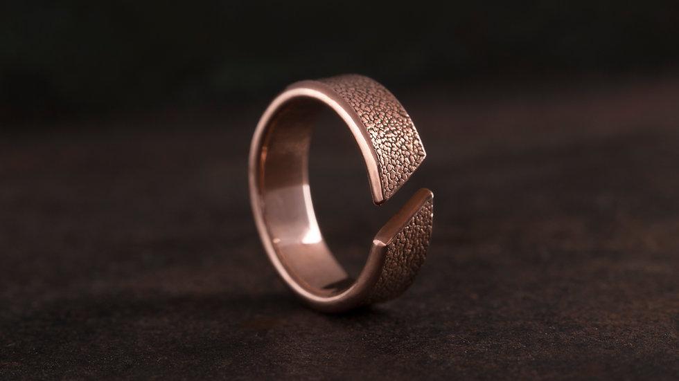 革紋 紅銅戒指 Emboss Texture Ring