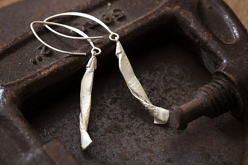 Origamini 小摺學 純銀釣魚耳環 Fishing Silver Earrings