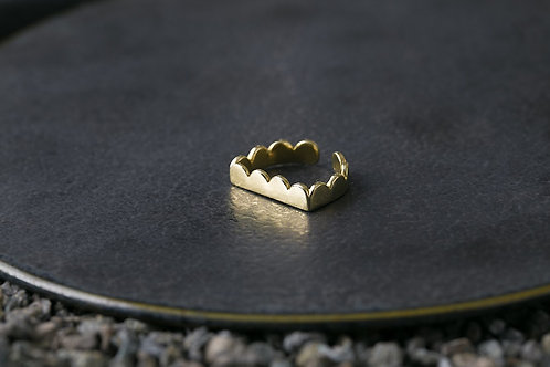 Misstache 鬍子小姐 黃銅戒指 Ring
