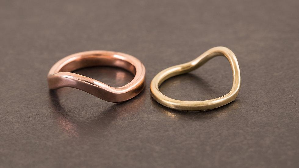 微風 黃銅戒指  Breeze Ring