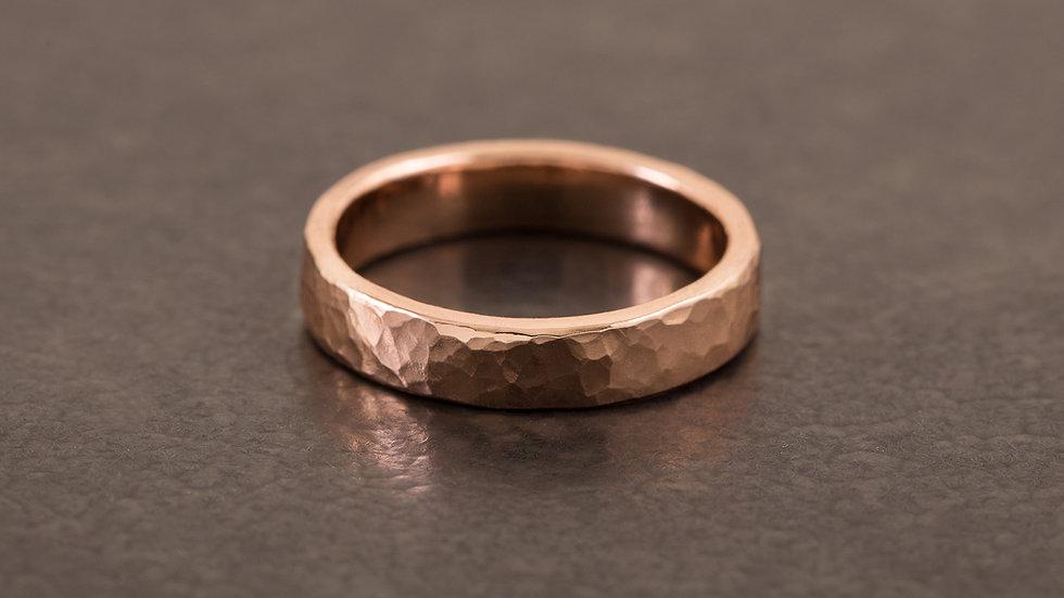 經典錘目 紅銅戒指 HammeredHead Ring