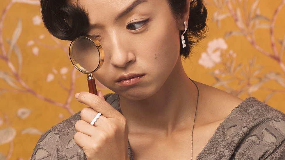 Upset / Upturn 鬍子小姐 折 單色銀項鍊 Silver Short Necklace