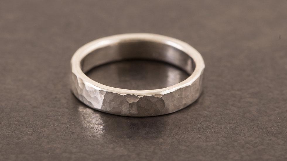 經典錘目 純銀戒指 HammeredHead Ring