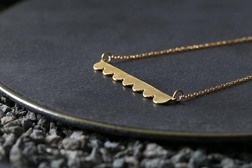 Misstache N.7 鬍子小姐 7 號 黃銅項鍊 Brass Necklace
