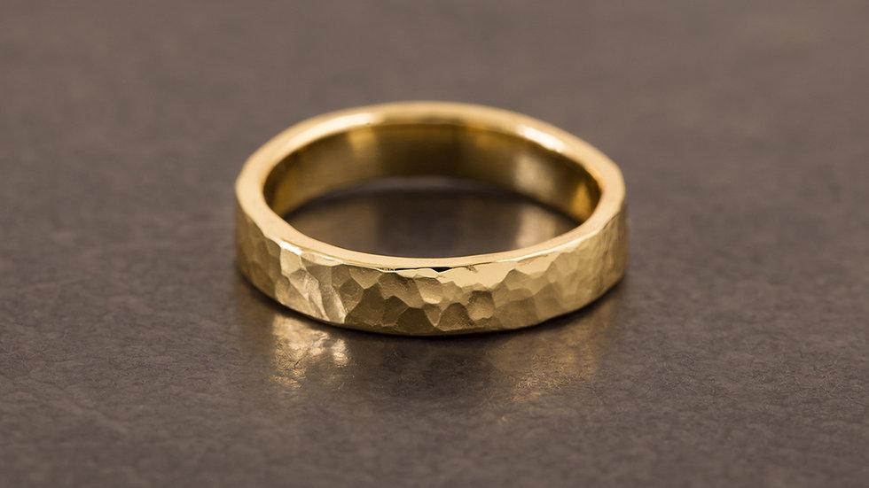 經典錘目 黃銅戒指 HammeredHead Ring