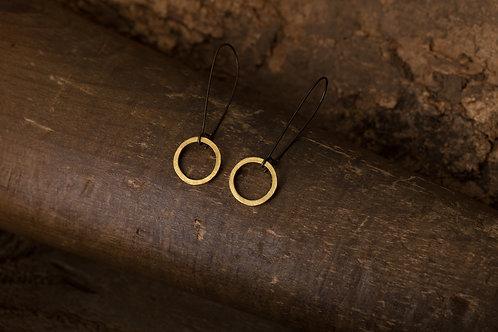 Circular 迴圈 黃銅耳環 Brass Dangle Earrings