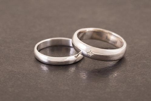 雙人純銀 對戒/婚戒基本價 (價格依款式/材質而異)