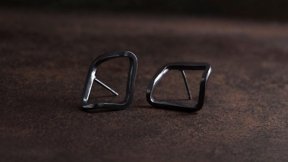 框折1號 純銀耳環 Edge Banding Earrings