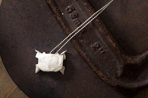 Origamini 小摺學  蟹 項鍊 Crab Silver Necklace