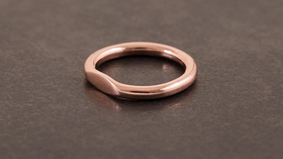 單目眼 紅銅戒指  Eye Ring