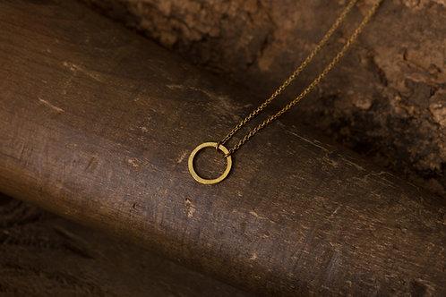 Circular 迴圈 - 手工 黃銅項鍊 Brass necklace
