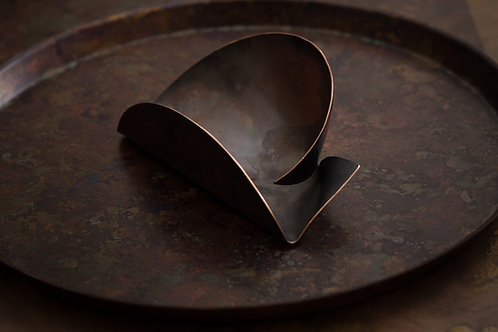 Chadō - 分則合皿 -  一分則 Tea Spoon Large Copper Forging Tea Ceremony Utensil