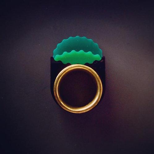5 Elements Plus 喜神+ AcrylicBrass 黃銅壓克力戒指