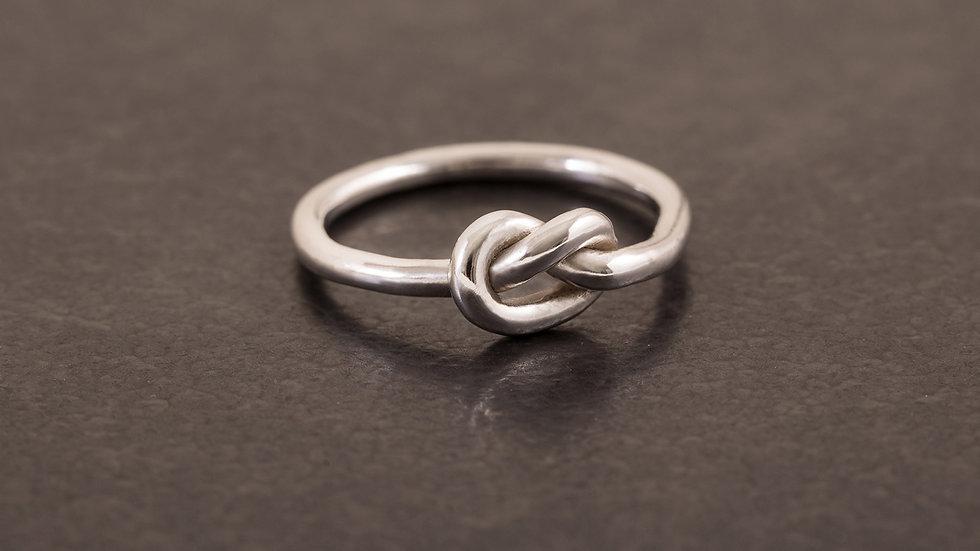 單結 純銀戒指1號 Knot Tying Ring