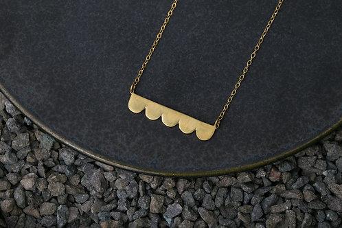 Misstache N.5 鬍子小姐 5 號 黃銅項鍊 Brass Necklace