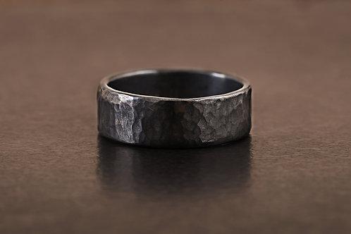 特殊色錘目 戒指 Oxidized Ring