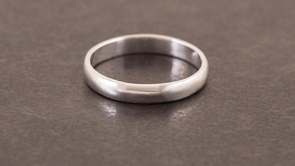 經典甜圈圓面 純銀戒指 Donut Ring