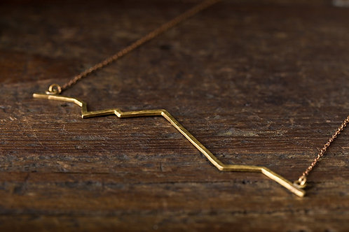 Beats 悸  黃銅項鍊  山之悸 Brass Mountain Necklace