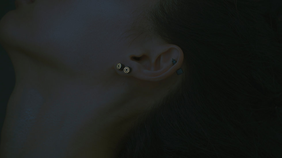 Reverse 逆物論耳環 Mokume-gane Earring